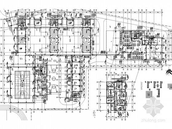 [广东]知名实验小学给排水全套图纸(气体灭火系统)