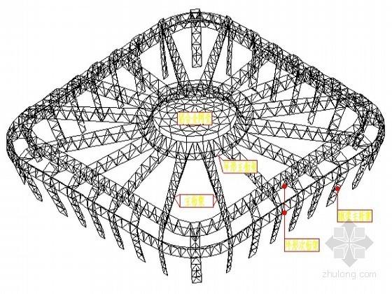 [安徽]体育馆屋面钢结构管桁架临时支撑方案(附图及计算)
