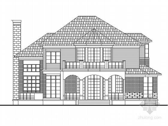 某二层英式别墅建筑方案图