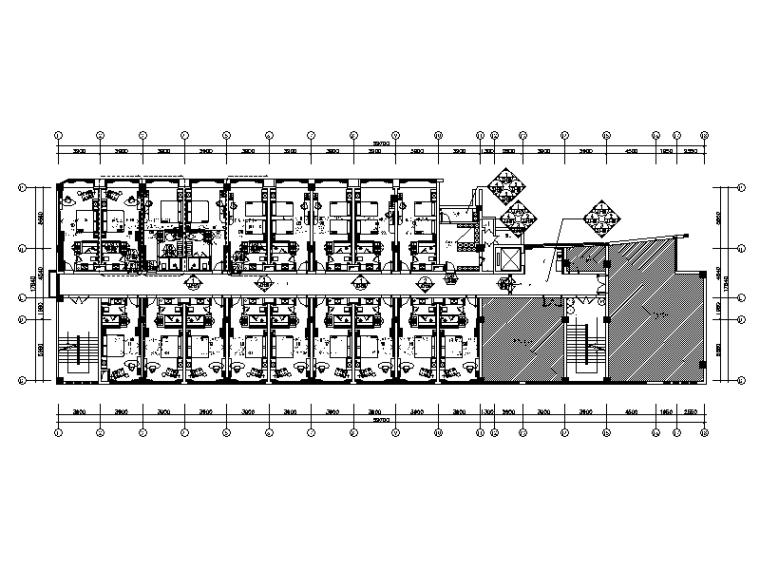 [广西]某现代简约风格酒店设计CAD施工图