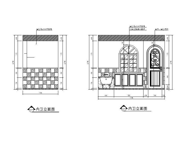 【江苏】地中海风格样板房设计CAD施工图(含效果图)_5