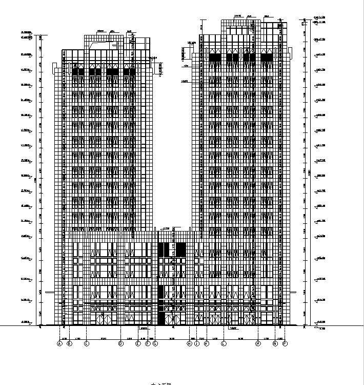 [内蒙古]高层框架结构办公、公寓及商业餐饮建筑施工图_5