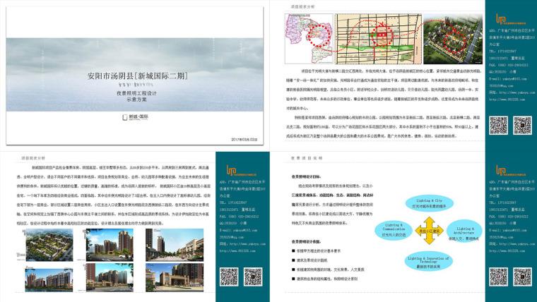 安阳市汤阴县[新城国际二期]夜景照明工程设计
