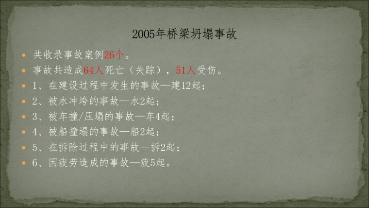 桥之殇—中国桥梁坍塌事故的分析与思考(2005年)