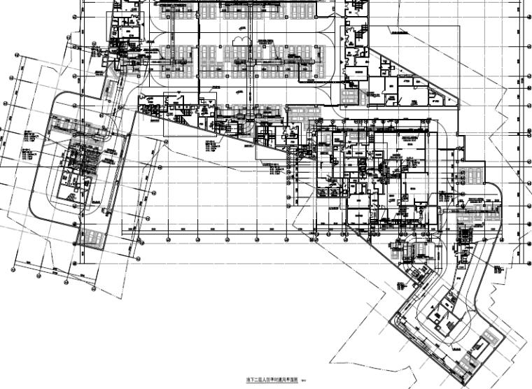 [江西]高层商业办公建筑空调通风及防排烟系统施工图(人防设计)