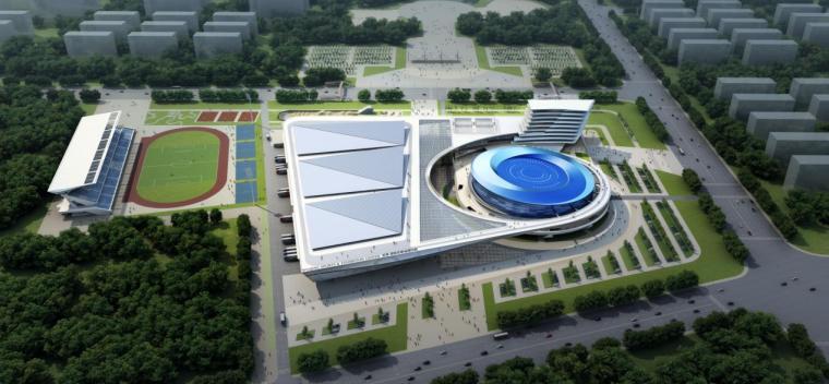 [天津]三层现代风格甲级体育馆建筑设计方案文本(含多张CAD)