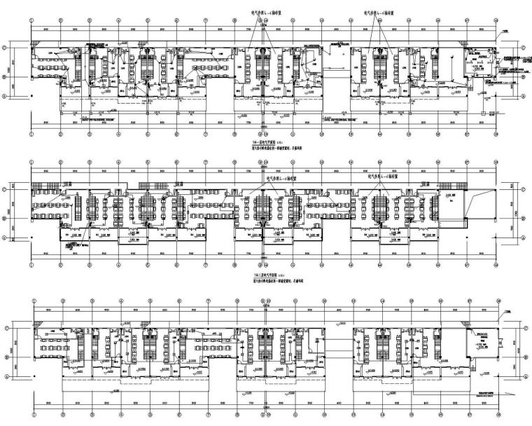 [浙江]美食街强电智能化电气施工图最新设计