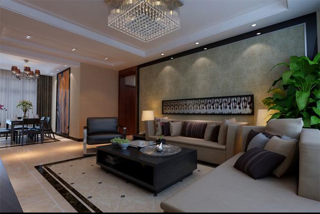 [中海紫御公馆]193平现代简约风格装修,地板上墙的经典设计!