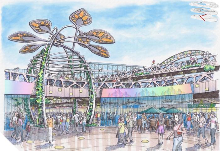 """[浙江]""""垂直绿化""""商业中心景观设计方案"""