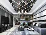现代时尚客厅3D模型下载