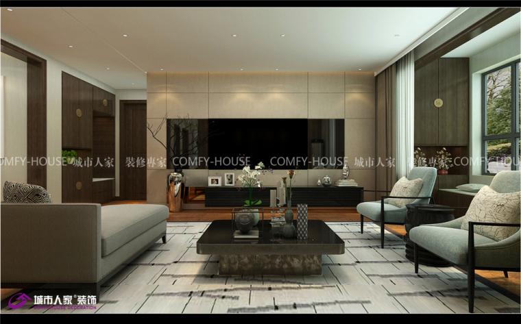 中海国际简中风格装修,实用雅致舒适的家居环境