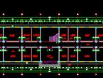 5层框架结构PKPM模型+CAD配筋图