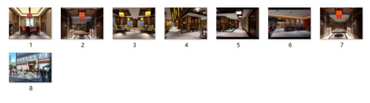 中式火锅店装修(含效果图、CAD施工图、3D模型带灯光材质)_12
