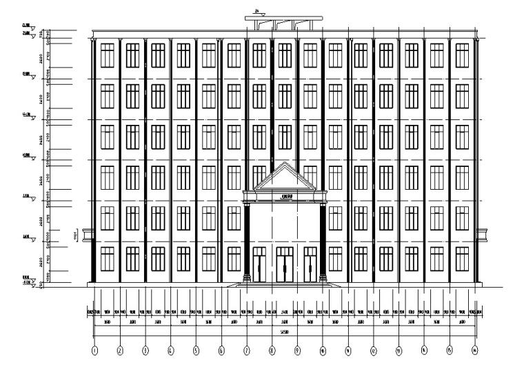 【毕业设计】某市6层综合办公楼(建筑结构图+手算计算书)_8