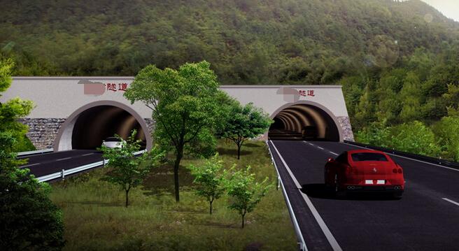 低山丘陵区13km双向四车道高速公路工程实施性施工组织设计213页(路桥隧涵)-隧道建设效果(出口)