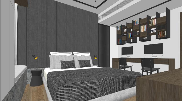 港式现代风格大户型住宅方案室内设计模型
