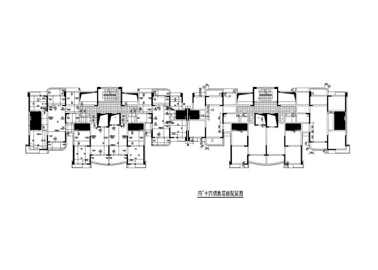 18层钢混剪力墙结构住宅楼施工图_建筑结构