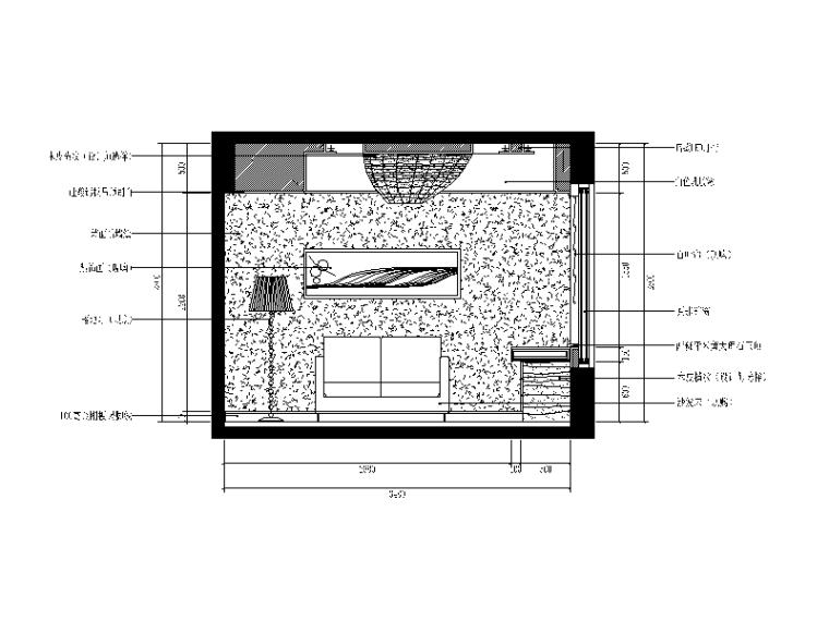【重庆】新中式样板间设计CAD施工图(含效果图)_9
