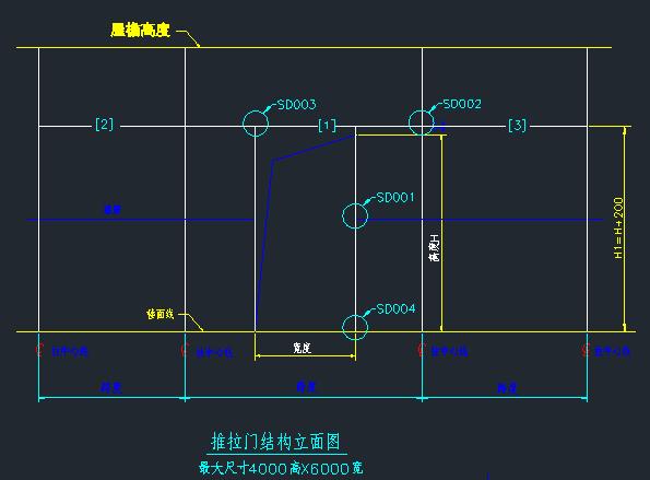 推拉门/卷帘门结构详图