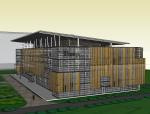 某新区建设指挥中心建筑模型设计