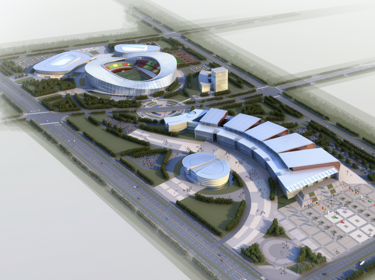 [江苏]运河文化国际会议中心及体育中馆建筑设计方案文本