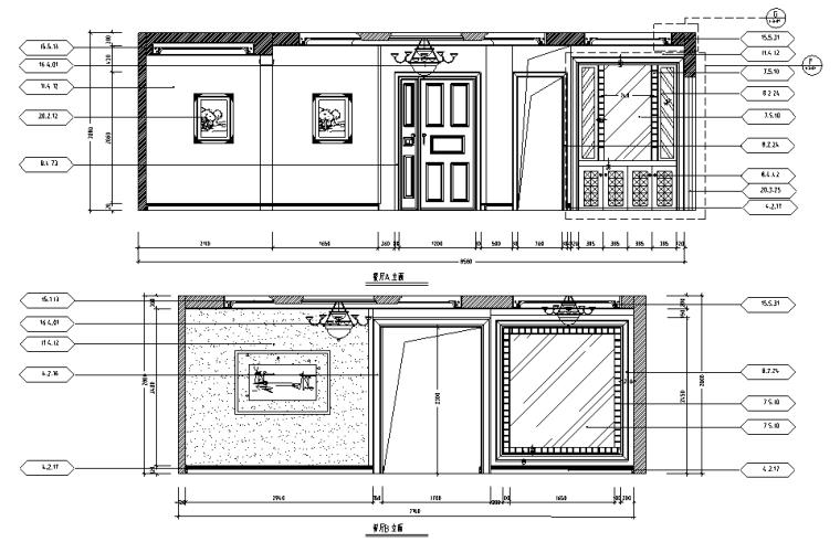 [分享]欧式餐厅室内设计施工图资料下载图片