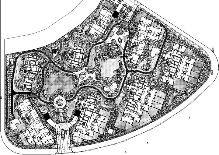 [福州]ART-DECO风格居住区景观二期工程施工图(著名地产公司)