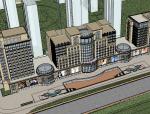 新古典办公龙、商业街建筑SU模型
