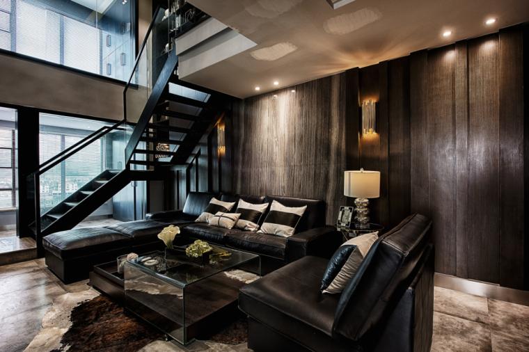 DE事务所-现代奢华LOFT公寓设计实景图