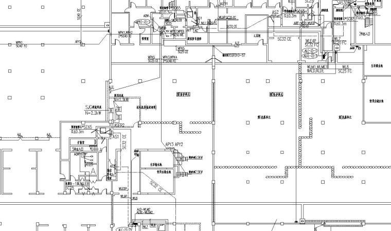 某高层住宅楼地下车库电气图纸