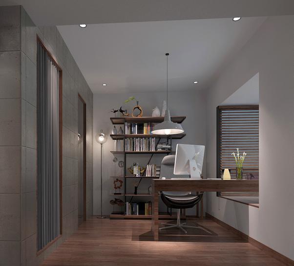 高端小户型单身公寓设计CAD施工图(含效果图)效果图