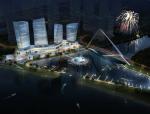 高层风帆造型城市综合体建筑BIM方案