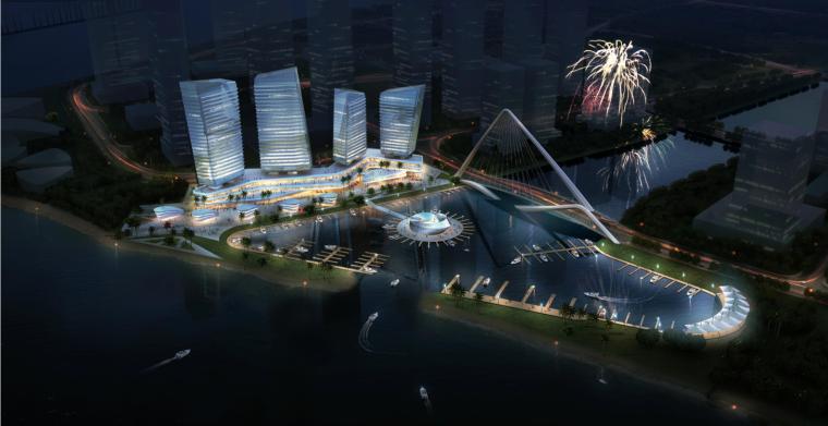高层风帆造型城市综合体建筑BIM方案_1