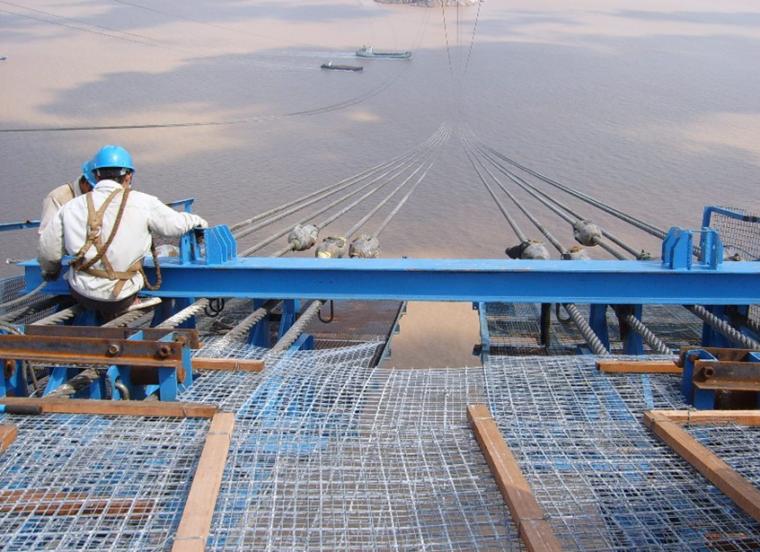 [江苏]三塔两跨悬索桥上部结构猫道施工技术交底PPT(91页,多图
