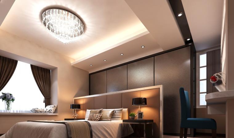 现代风格二居室样板房设计CAD施工图(含效果图)_8