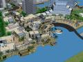 现代风格滨水城市规划和建筑设计SU模型