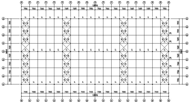 中辉工程126mx56m刚架结构施工图_2
