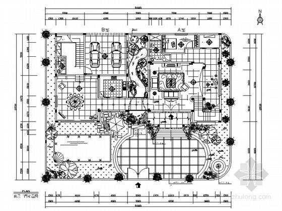 [三亚]欧式豪华花园别墅室内设计施工图