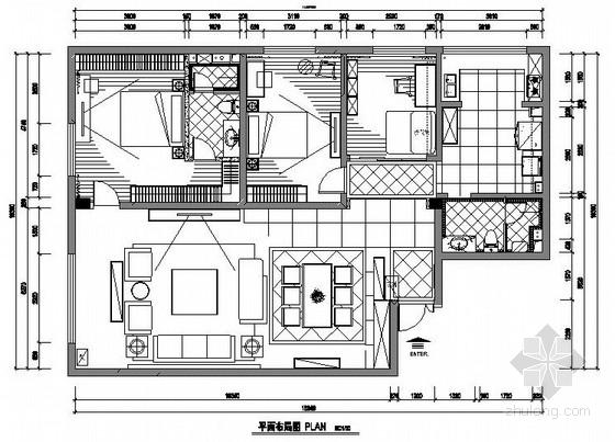 [合肥]经典欧式家装施工图(含效果图)