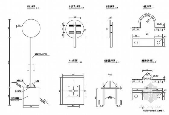 单柱式标志结构设计图