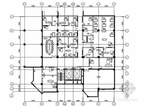 [深圳]某品牌酒店夹层行政办公室设计竣工图