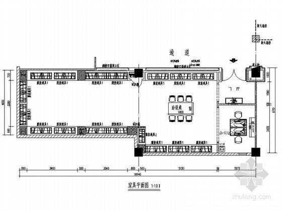 [北京]商业中心现代高档羽绒服旗舰店装修施工图(含效果)
