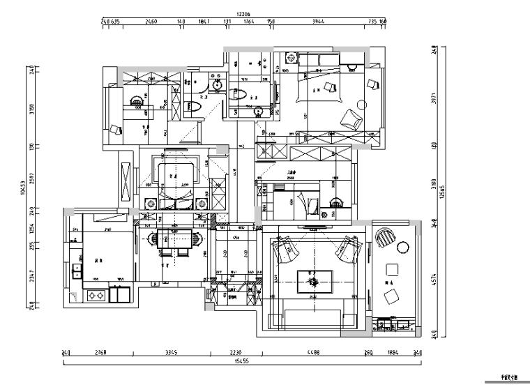 查令十字路|美式浪漫风住宅设计施工图(附效果图)