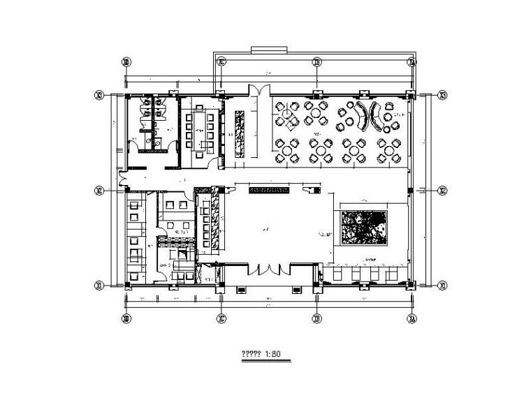 [杭州]某住宅小区销售中心工程装饰施工图(含效果图)
