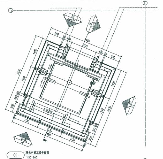 观光电梯玻璃幕墙、钢结构施工图及幕墙结构计算书_1