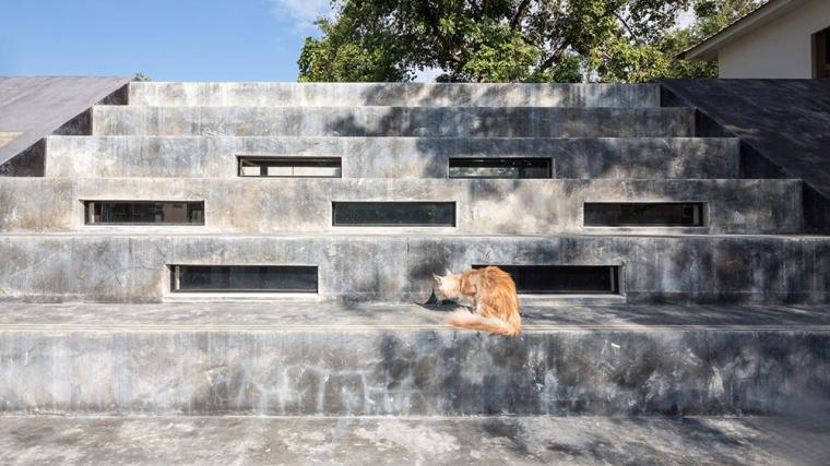 泰国设有阶梯式屋顶露台Fuzzy住宅-4