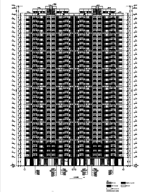 [四川]绿地29栋超高层住宅及地下室建筑施工图(正式全专业)