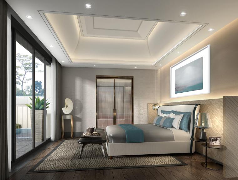 [梁志天]三亚海棠湾海棠之星住宅项目A型别墅室内外深化设计方案(JPG+CAD)