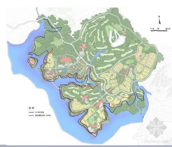 莱芜雪野湖度假村概念性规划方案全套图