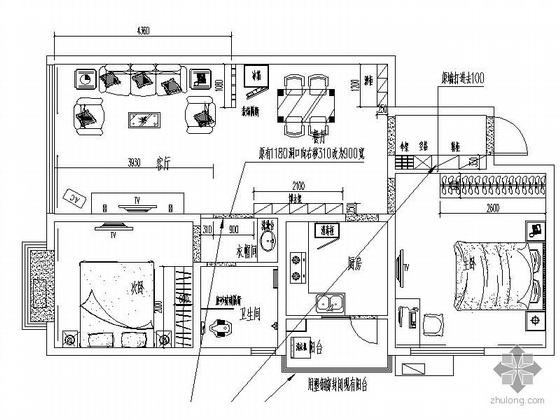 [重庆]简约二居室装修图